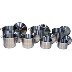 Update International Stock Pot S/S - 8 Qt Welded Hdl (Cover Included)