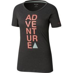 Columbia Women's Word Block T Shirt - Charcoal
