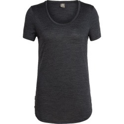 Icebreaker Women's Solace Scoop T Shirt - Black Heather found on Bargain Bro India from atmosphere.ca for $72.57