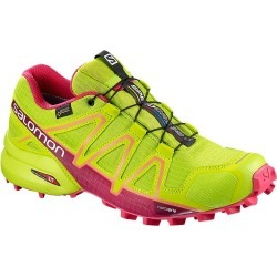 Salomon Women's Speedcross 4 GTX Trail Running Shoes - Lime Green