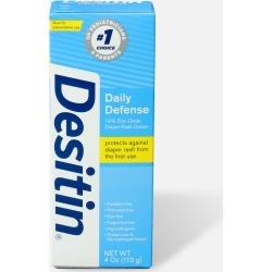 Desitin Daily Defense Zinc Oxide Diaper Rash Cream FF