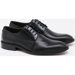 Sapato Social Spazzolato Couro Preto Masculino - 37 found on Bargain Bro Philippines from PaquetaBR for $91.63