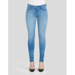 Light Blue Women's Mid Rise Skinny Jeans | Perfect Fit 4 Way Stretch Denim Fabric | Shop Genetic Denim Fashion Online