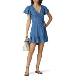 Paige Calie Wrap Dress blue found on MODAPINS from Rent the Runway for USD $35.00