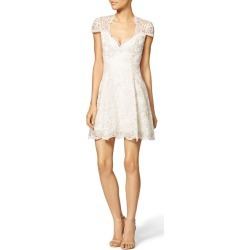 Marchesa Notte Scalloped Empire Dress white found on MODAPINS from Rent the Runway for USD $105.00