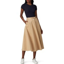 Tommy Hilfiger Crest Chino Skirt brown found on Bargain Bro Philippines from Rent the Runway for $30.00