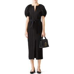 Martin Grant Striped Balloon Dress black found on MODAPINS from Rent the Runway for USD $210.00