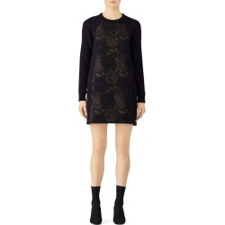 Martin Grant Brocade Sweater Dress blue-print found on MODAPINS from Rent the Runway for USD $150.00