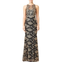 Marchesa Notte Gilded Garden Gown black-gold found on MODAPINS from Rent the Runway for USD $200.00