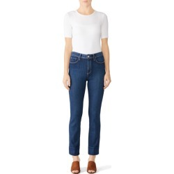 Paige Amber Hoxton Slim Jeans blue found on MODAPINS from Rent the Runway for USD $35.00