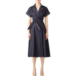 Martin Grant Stitched Denim Shirtdress blue found on MODAPINS from Rent the Runway for USD $210.00