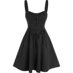 Plain Lace Up Cami A Line Dress found on MODAPINS from dresslily for USD $19.99