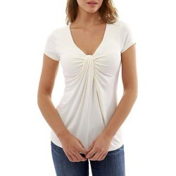 Plunging Twisted Short Sleeve T-shirt found on MODAPINS from dresslily for USD $12.63