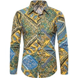Floral Paisley Print Turn-down Collar Casual Shirt found on MODAPINS from dresslily for USD $22.99