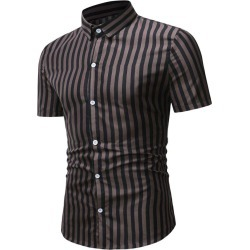 Button Down Striped Casual Shirt found on MODAPINS from dresslily for USD $19.99