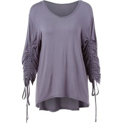 Drawstring Long Sleeve T-shirt found on MODAPINS from dresslily for USD $18.48