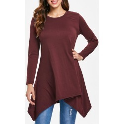 Asymmetrical Long Sleeve T-shirt found on MODAPINS from dresslily for USD $17.89