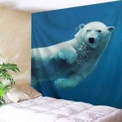 Sea Bear Wall Tapestry Home Decoration
