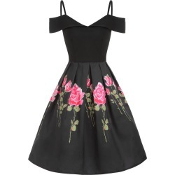 Cold Shoulder Floral Print A Line Dress found on MODAPINS from dresslily for USD $24.36