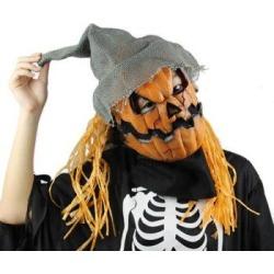 Yeduo Halloween Mask Pumpkin Scarecrow Creepy Latex Realistic Crazy Rubber Super Creepy Party Halloween Costume Mask