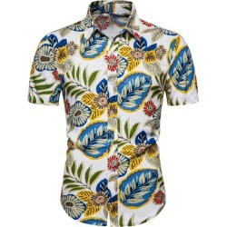 Hawaii Leaf Print Short Sleeve Casual Shirt found on MODAPINS from dresslily for USD $22.99