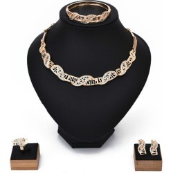 Necklace Jewelry Set Earring Necklace Bracelet Ring Four-Piece Set