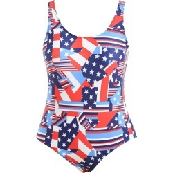 Plus Size American Flag Swimsuit