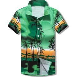 Palm Tree Print Hawaii Beach Shirt found on MODAPINS from dresslily for USD $19.99