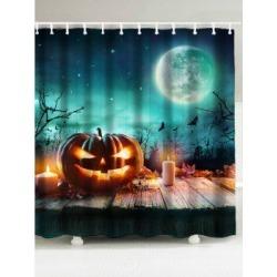 Pumpkin Print Halloween Shower Curtain