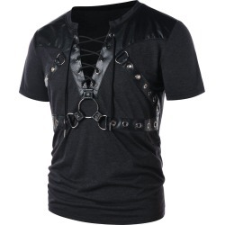 Round Hold Decorated Short Sleeve T-shirt found on MODAPINS from dresslily for USD $23.02