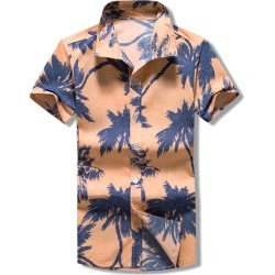Palm Tree Print Button Beach Shirt found on MODAPINS from dresslily for USD $19.99