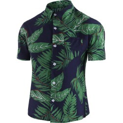 Leaf Print Pocket Beach Shirt found on MODAPINS from dresslily for USD $22.99