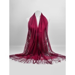 Vintage Hollow Out Floral Lace Shawl Scarf