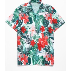 Allover Tropical Flowers Print Casual Shirt found on MODAPINS from dresslily for USD $20.58
