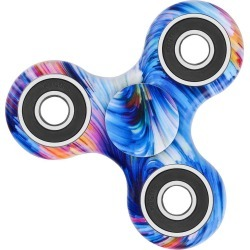 Star Sky Print Stress Relief Focus Toy Fidget Spinner