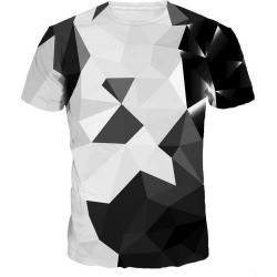 Geometric Patterns Digital Printing Short Sleeve T-shirt found on MODAPINS from dresslily for USD $20.27