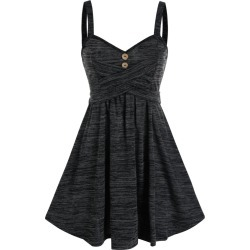 Space Dye Crisscross Cami A Line Dress found on MODAPINS from dresslily for USD $19.99