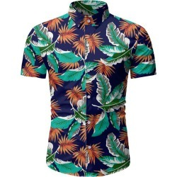 Tropical Leaf Pattern Beach Shirt found on MODAPINS from dresslily for USD $16.99