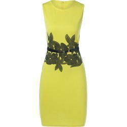 Belted Flower Print Pencil Bodycon Formal Dress found on MODAPINS from dresslily for USD $17.59
