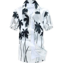 Hawaii Coconut Trees Print Beach Short Sleeves Shirt found on MODAPINS from dresslily for USD $16.83