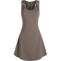 Plain Ruched Sleeveless Mini A Line Dress found on MODAPINS from dresslily for USD $16.99
