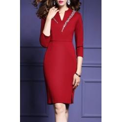 Rhinestone Work Dress found on MODAPINS from dresslily for USD $26.13