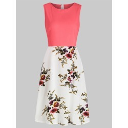 Flower Print A Line Sleeveless Dress found on MODAPINS from dresslily for USD $19.99