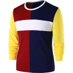 Color Contrast Long Sleeve T-shirt found on MODAPINS from dresslily for USD $17.00