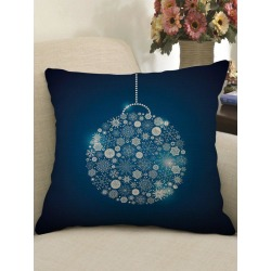 Christmas Snowflake Ball Print Sofa Linen Pillowcase