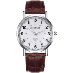 KINGNUOS 013 Fashion Casual Belt Waterproof Watch found on Bargain Bro India from dresslily for $7.79