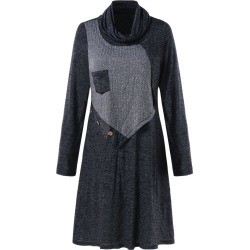Turtleneck Marled Swing Dress found on MODAPINS from dresslily for USD $22.99