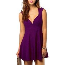 Cut Out Sleeveless A Line Dress found on MODAPINS from dresslily for USD $18.76