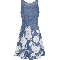 Flower Mini Tank A Line Dress found on MODAPINS from dresslily for USD $15.08