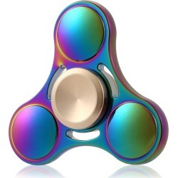 Round Tri-blade ADHD Titanium Alloy Fidget Spinner Stress Relief Toy Relaxation Gift